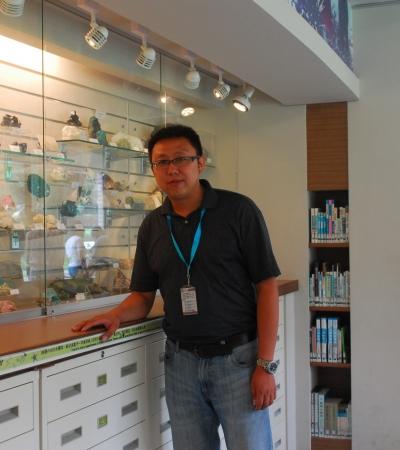 王虎纹在台湾博物馆
